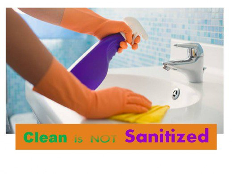 difference between sanitized and clean