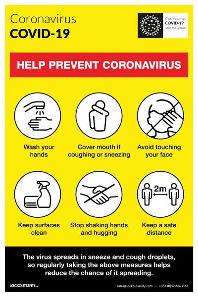 COVID-19 Help Prevent Coronavirus Poster
