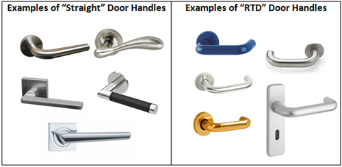 Examples of Straight and Return-To-Door Handles