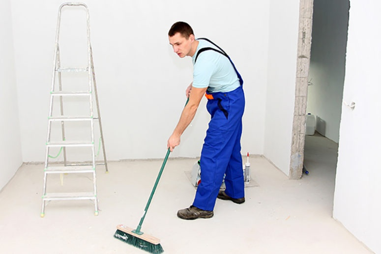 Clean Your Office After Builders Have Been